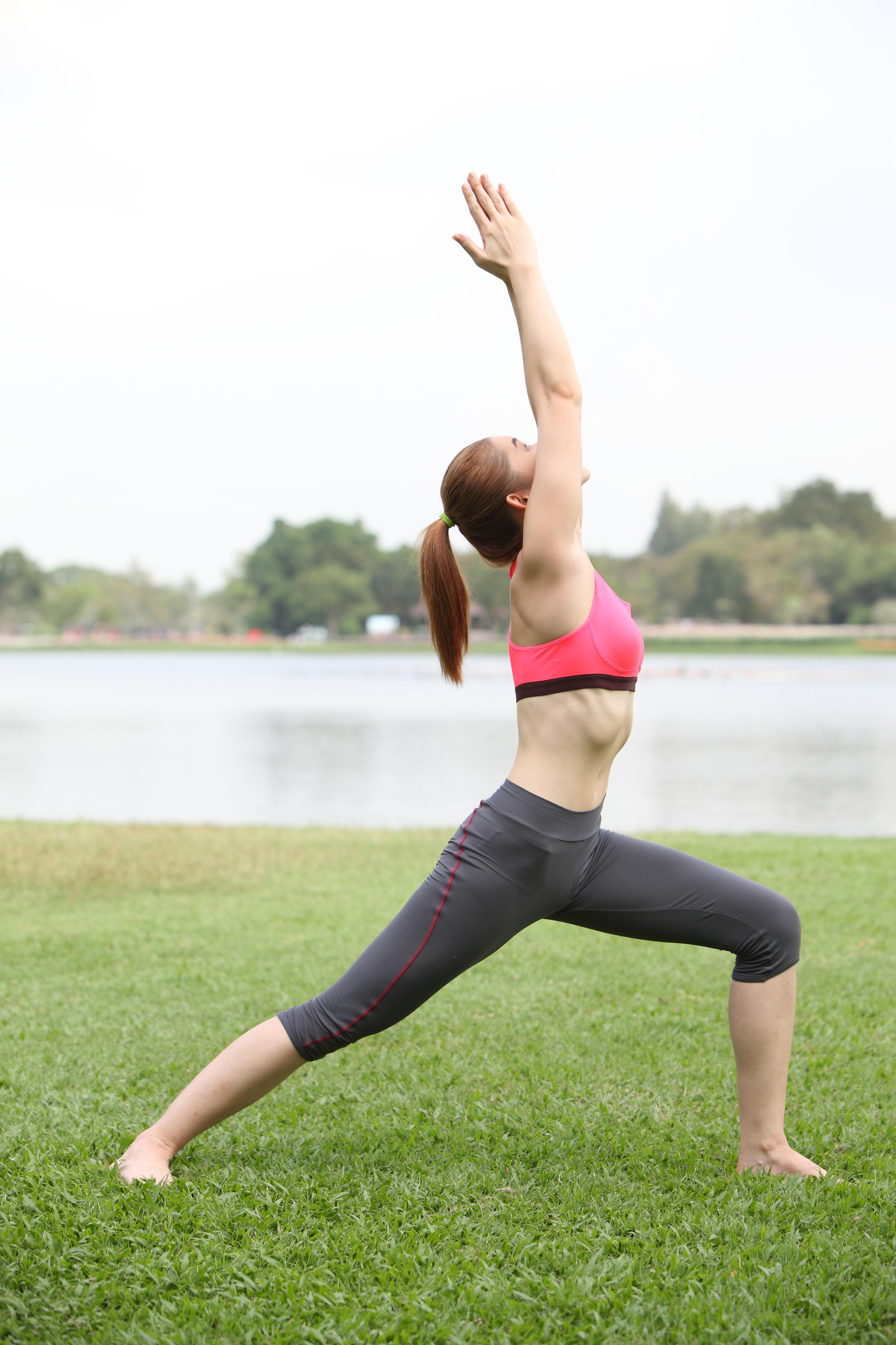 Warrior One Yoga pose